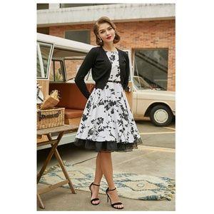 Dresses & Skirts - Floral-11 Boatneck Vintage Tea Belted Dress